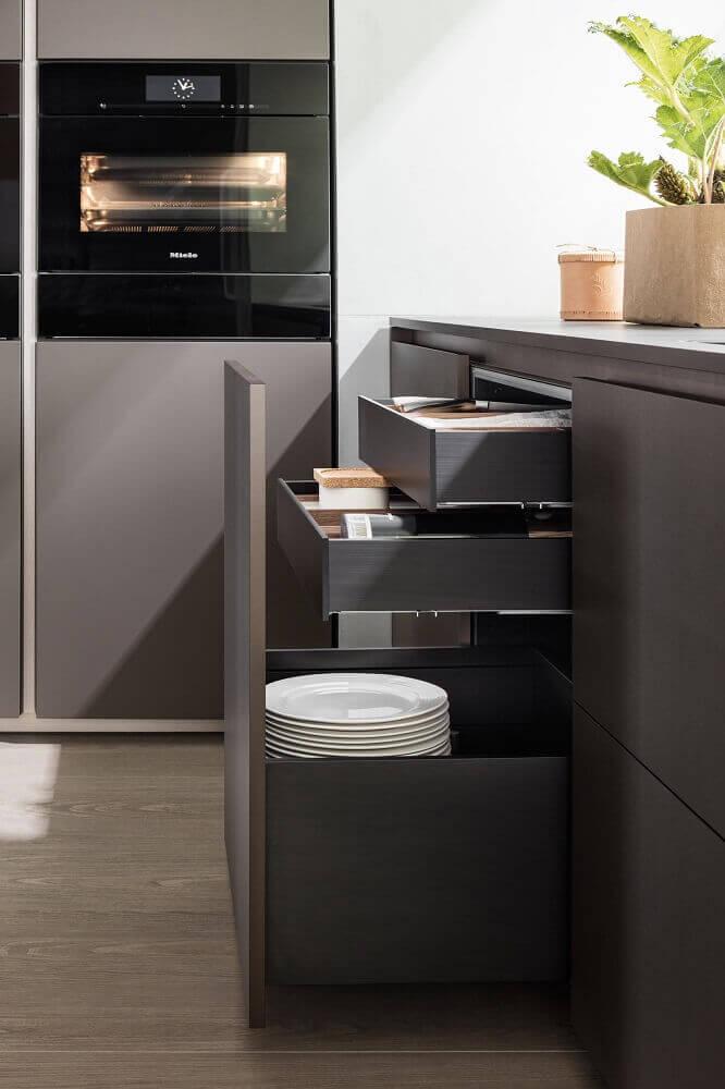 modelos de compartimentos de armário de cozinha planejado Foto Architonic