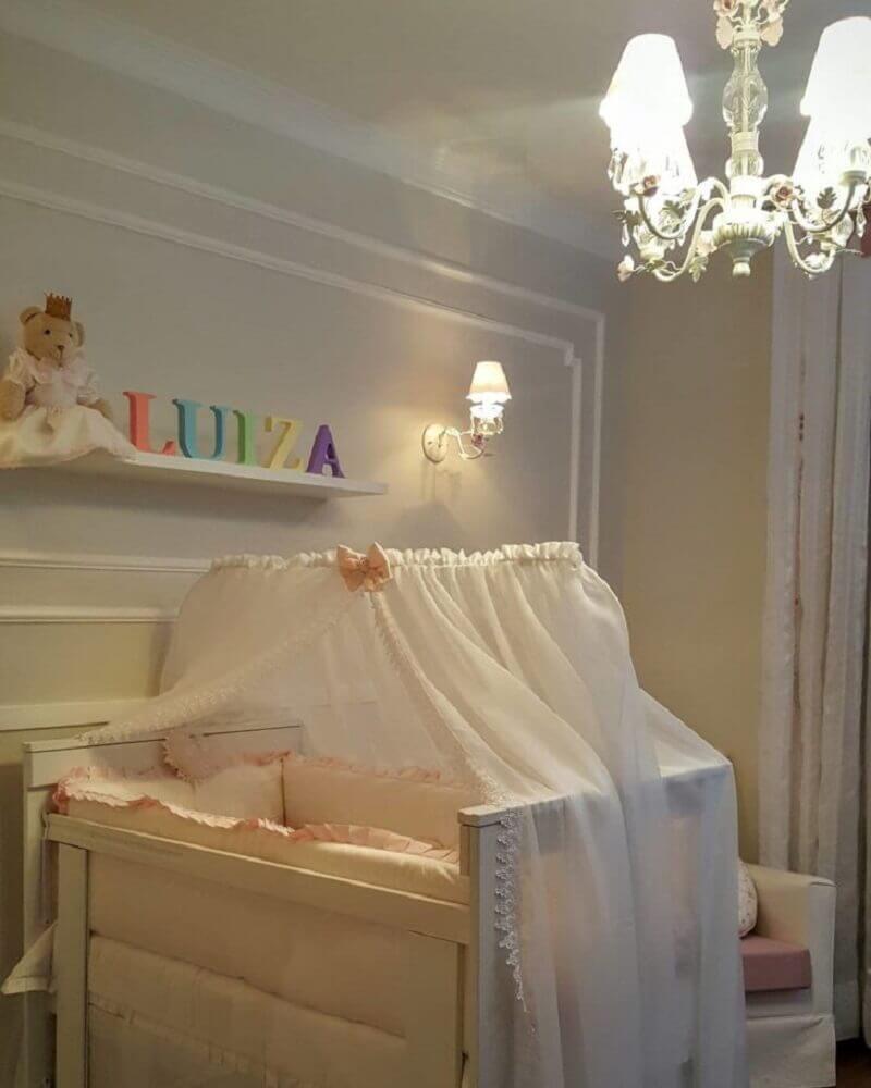 moldura de parede para quarto de bebê decorado Foto Patrícia Ribeiro de Assis