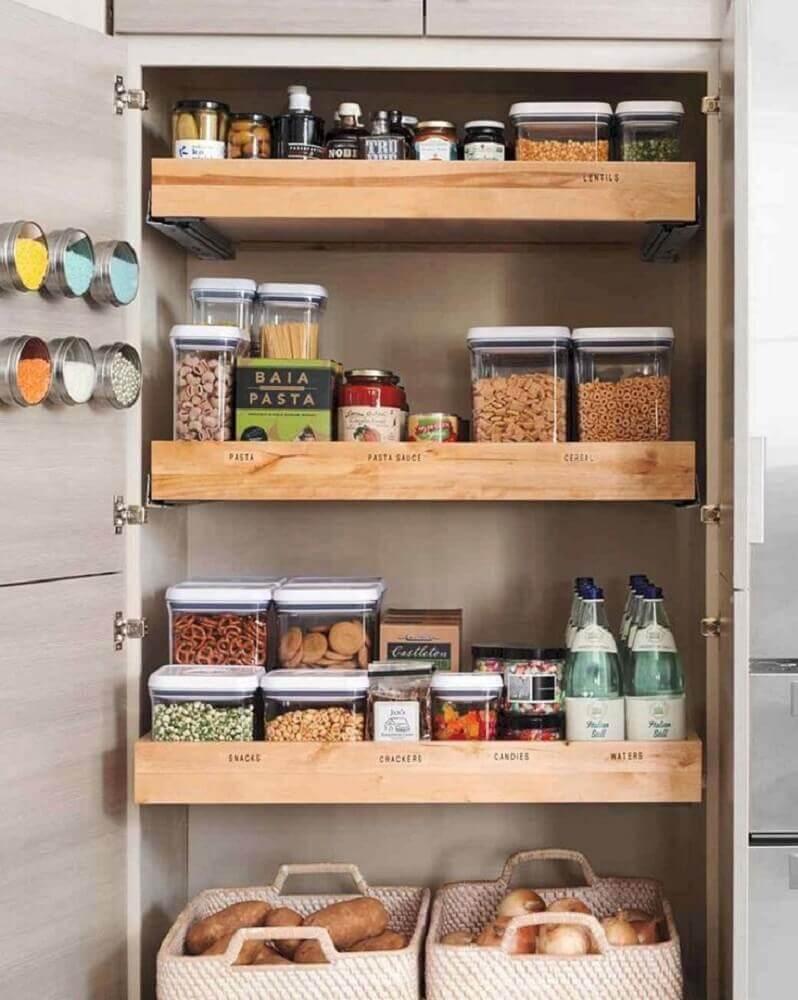 organização para armário planejado de cozinha Foto Curryono