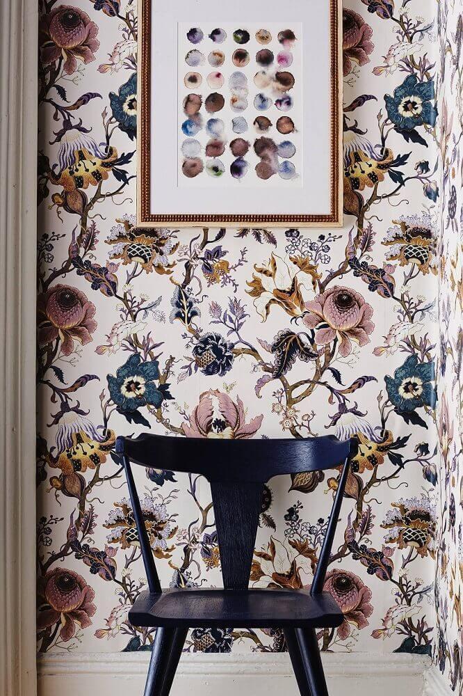 papel de parede floral com estilo antigo Foto Pinterest