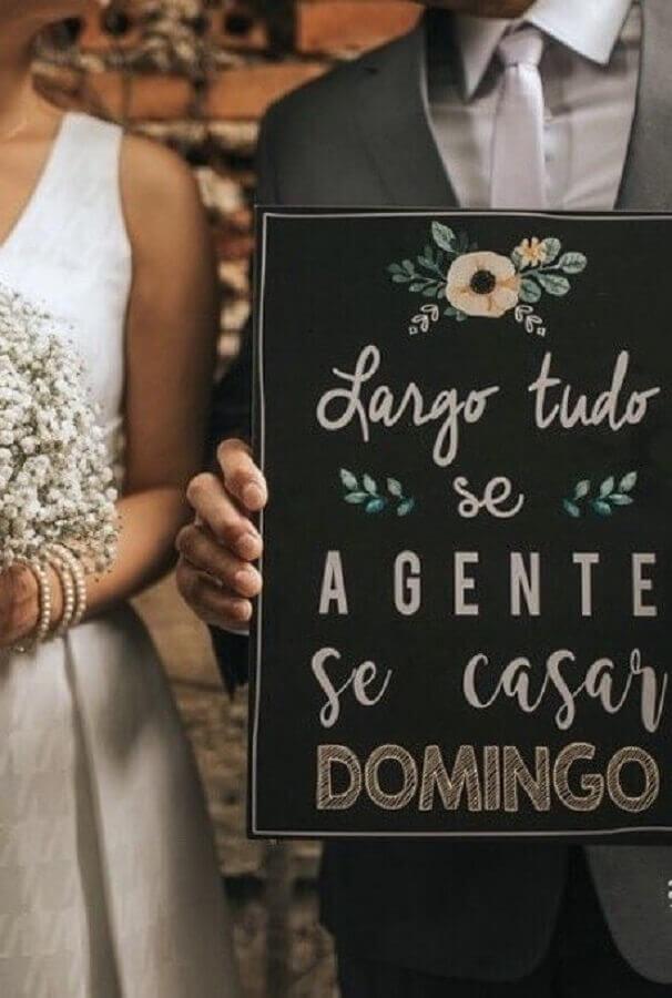 plaquinhas de festa de casamento para os noivos Foto Pinterest