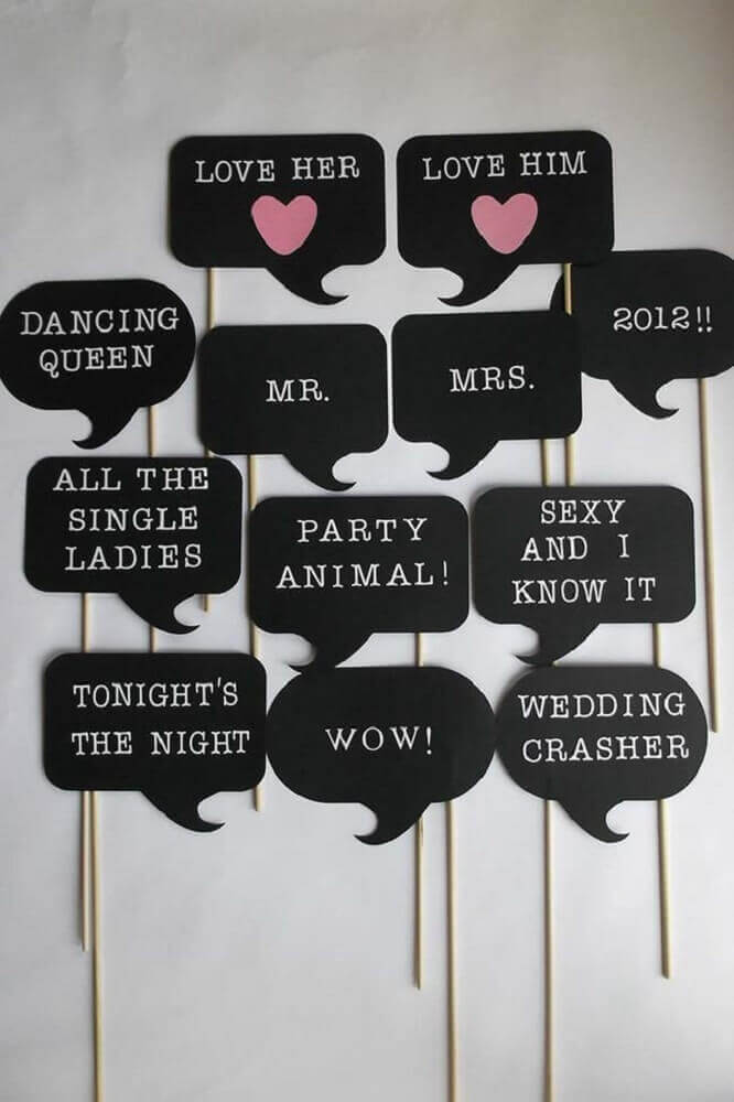 plaquinhas de festa simples Foto PinsDaddy