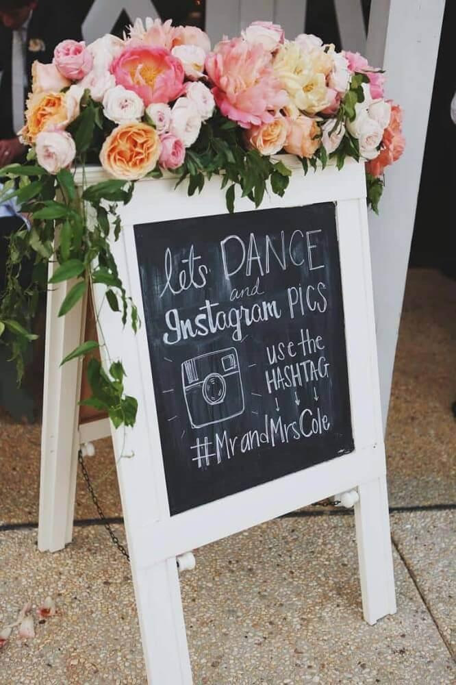plaquinhas divertidas para decoração de casamento Foto Design Me