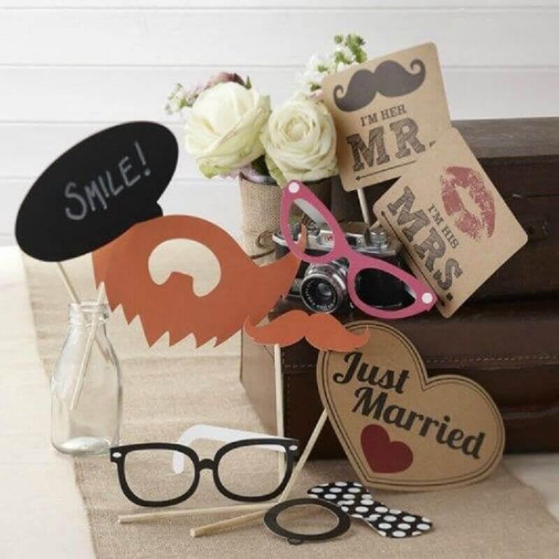 plaquinhas para casamento com formatos divertidos Foto Pinterest