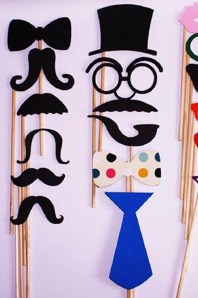 plaquinhas para festa que imita máscara Foto Stylowi