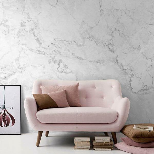 Sala com efeito marmorato