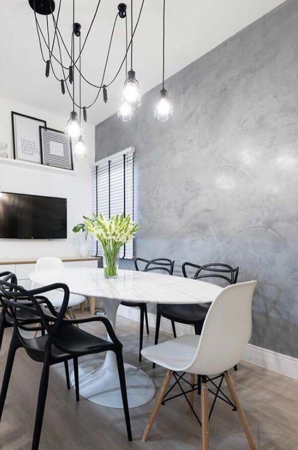 Sala de jantar marmorato moderno