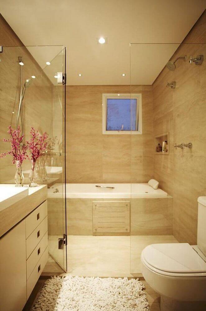 tons neutros para decoração de banheiro planejado moderno e sofisticado Foto Aaron Guides