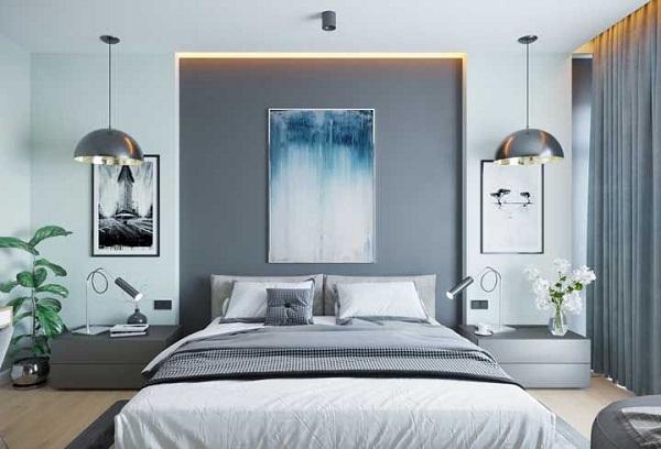 Utilize luminárias de teto nas laterais da cama