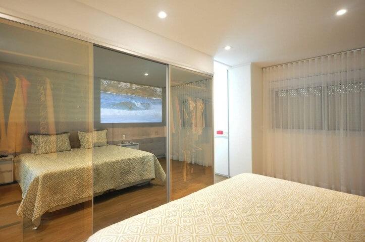 Armário de quarto de casal de vidro bronze Projeto de Condecorar