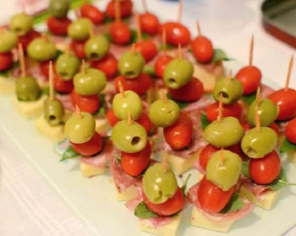 You can't miss the olives at the disco party