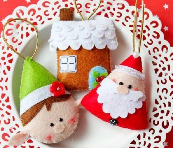 Como fazer enfeites de natal super delicados para a árvore