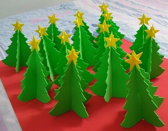 Enfeites de natal em EVA árvores de mesa Foto de Brow Picz