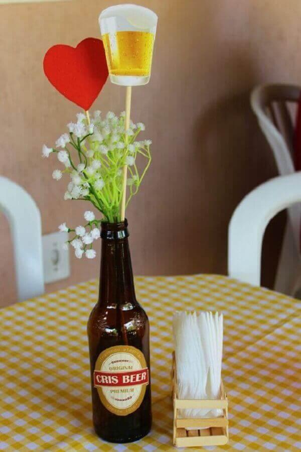 Festa de boteco arranjo de mesa