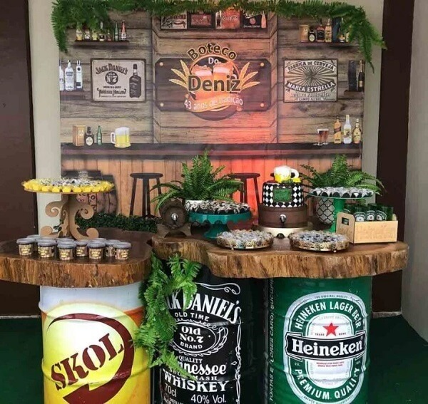 Pub party with rustic details