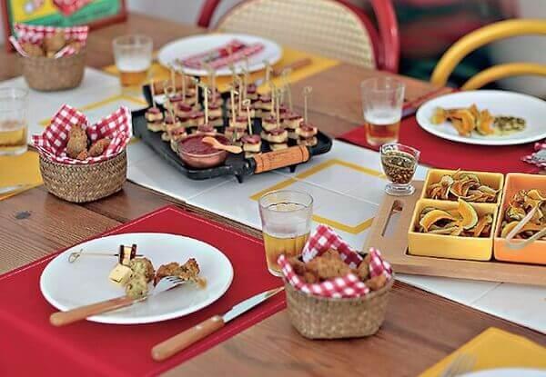Festa de boteco mesa dos convidado