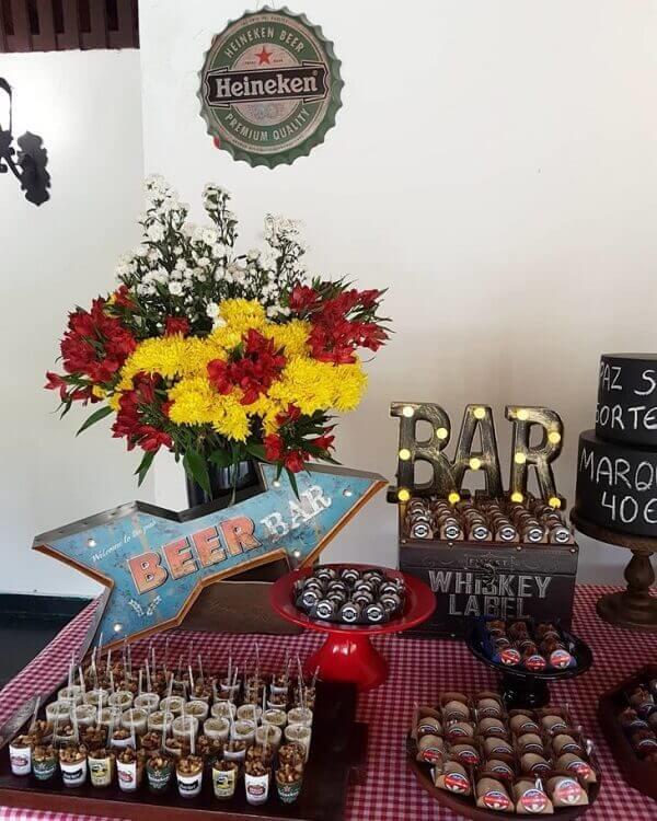 Festa de boteco mesas