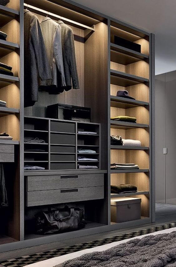 Guarda-Roupa Planejado - guarda roupa preto grande