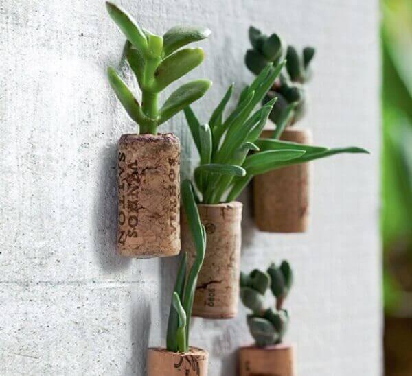 Mini Jardim vertical com suculentas