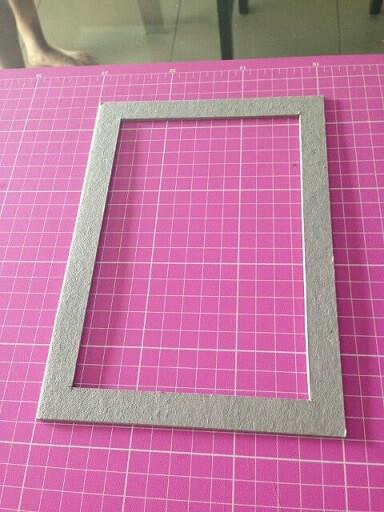 Modelo para fazer molduras para quadros de papelão Foto de Cafofinho de Luxo