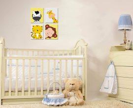 O quadro para quarto de bebê real