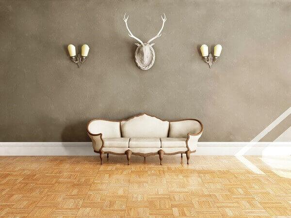 Rodapé alto é ideal para salas amplas