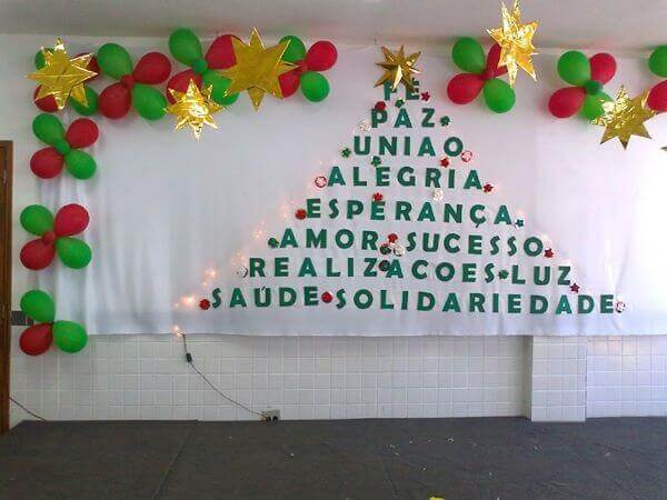 Painel de natal com frases