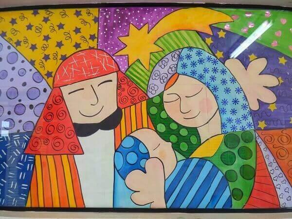 Painel de natal decorativo