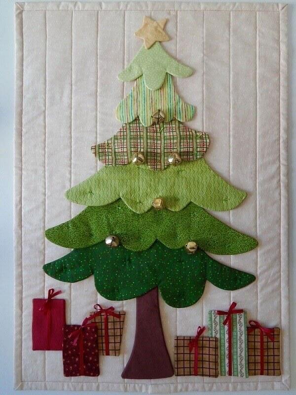 Painel de natal em patchwork Amellie