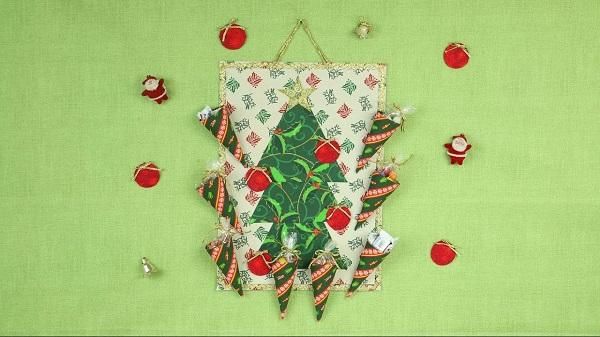 Painel de natal em tecido para parede