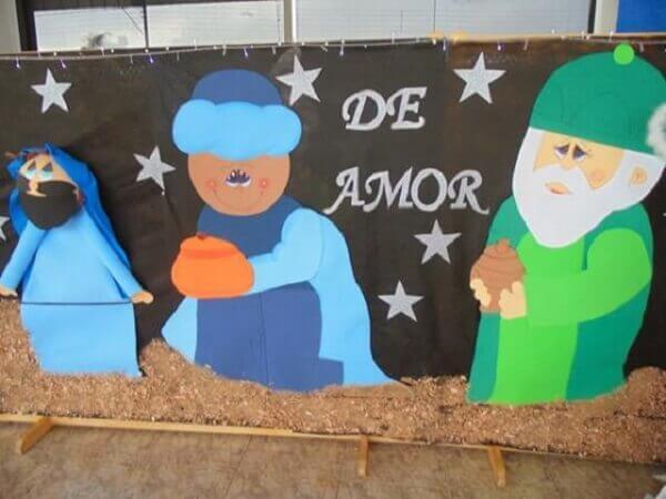 Christmas panel for school