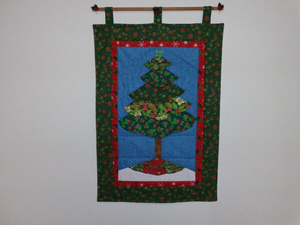 Christmas panel for wall or door decoration
