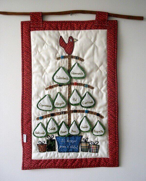 Painel de natal patchwork