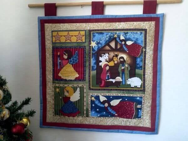 Christmas crib panel