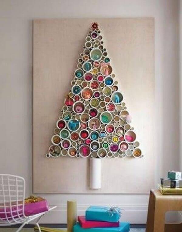 Painel de natal reciclado