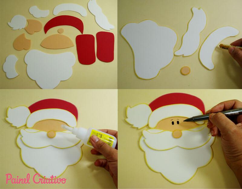 Passo a passo para fazer Enfeites de natal em EVA Foto de Painel Criativo