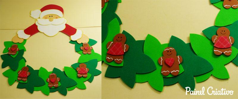 Passo a passo para fazer Enfeites de natal em EVA Foto de Painel Criativo1