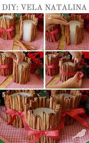 Passo a passo para fazer Enfeites feitos com velas de natal Foto de We Share Ideas