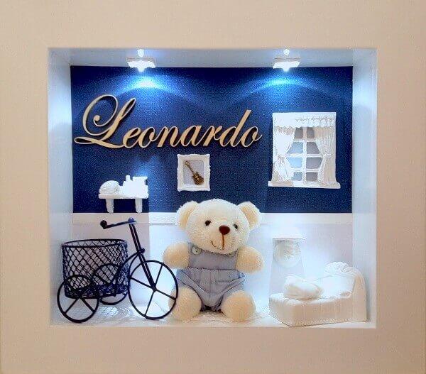 Quadro para quarto de bebê com 2 leds