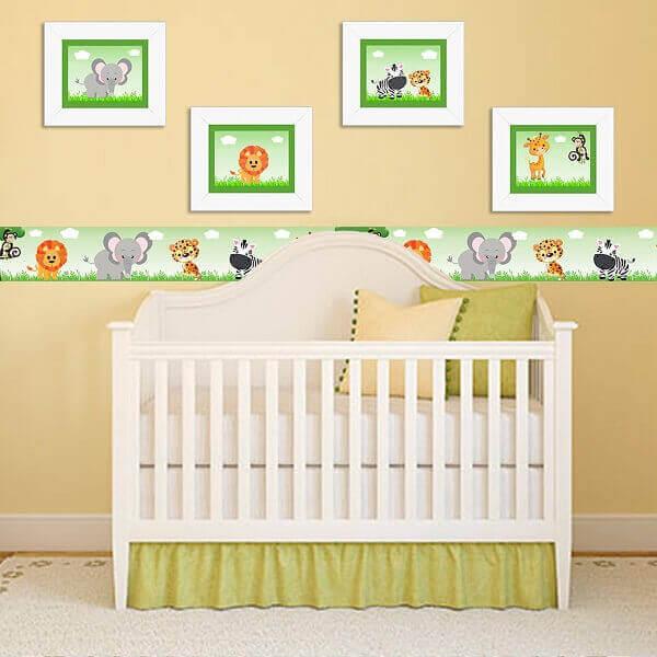 Quadro para quarto de bebê com motivos infantis
