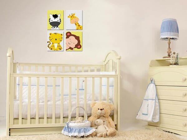Quadro para quarto de bebê com tema safari