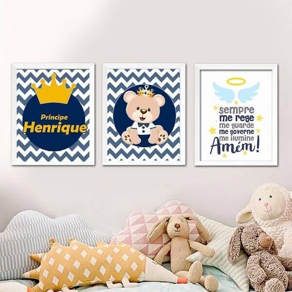 Quadro para quarto de bebê de menino