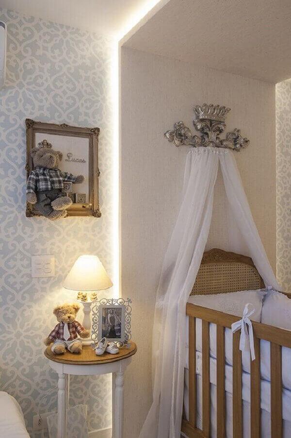Quadro para quarto de bebê de ursinho pendurado