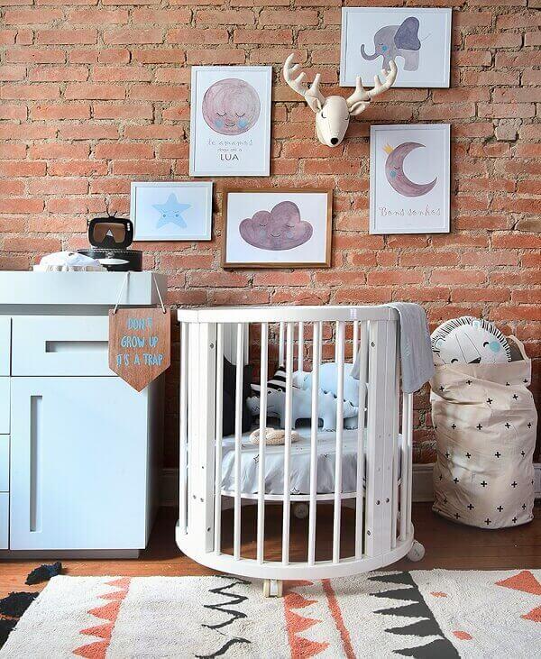 Quadro para quarto de bebê em parede