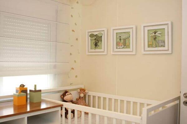 Quadro para quarto de bebê tema Floresta