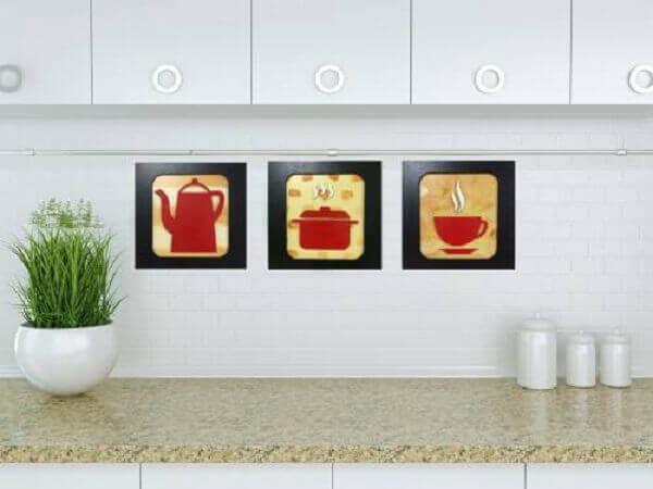 Quadros para cozinha clean
