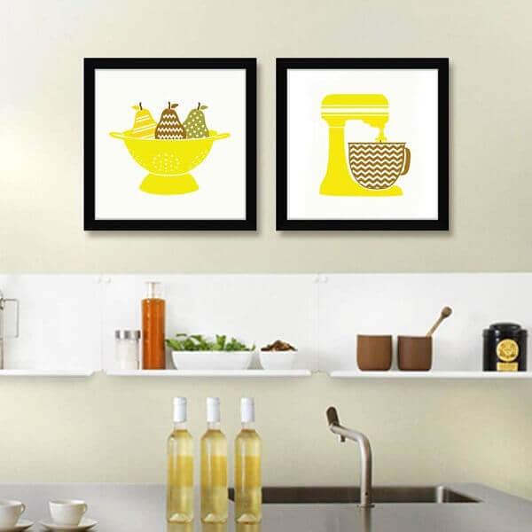 Quadros para cozinha decora ambiente pequeno
