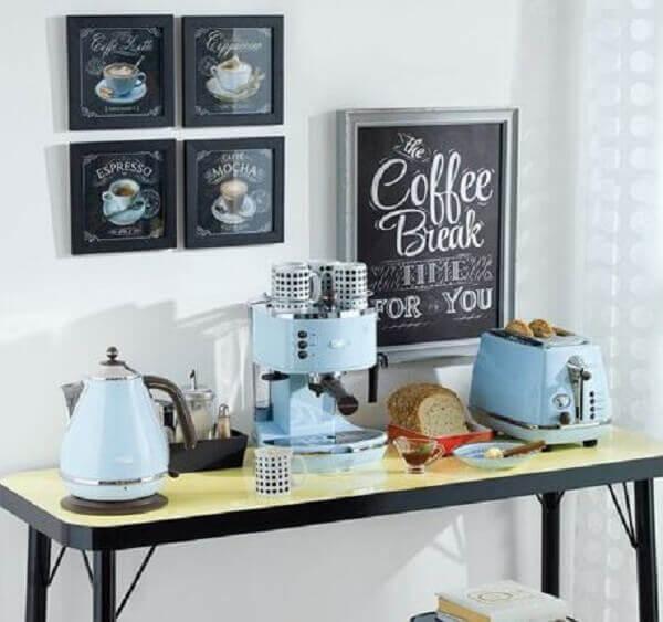 Quadros para cozinha em cantinho de café
