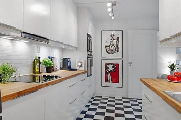 Quadros para cozinha em local de destaque