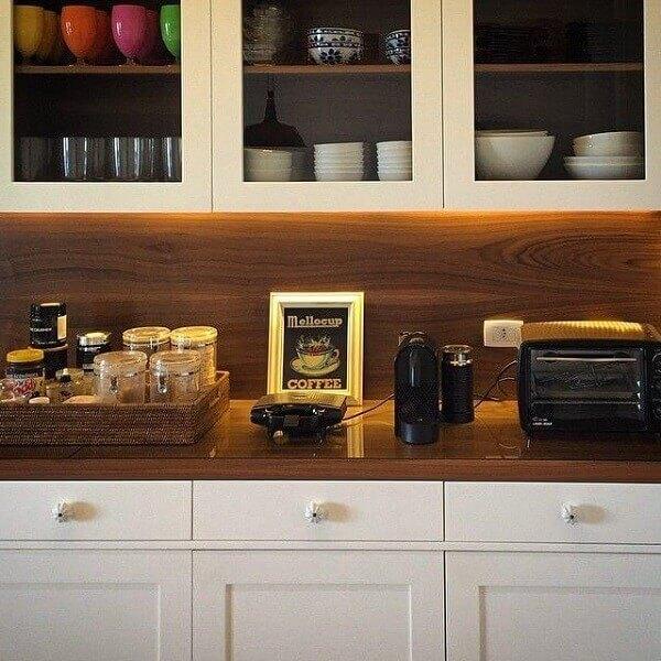 Quadros para cozinha em moldura de madeira